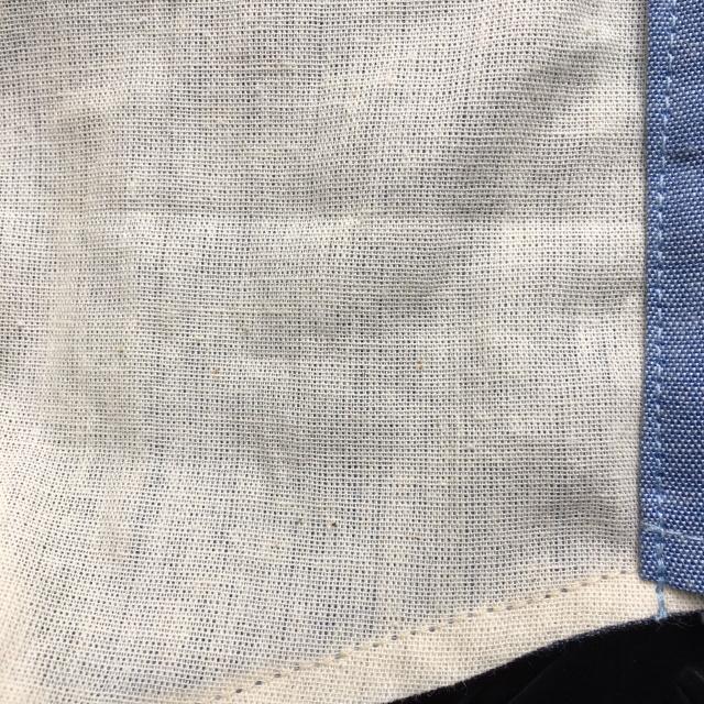 CAPTAIN TOMs ORIGINAL(キャプテントムオリジナル)シャンブレー立体布マスク プリント入り [Blue/Natural] フェイスガード [洗濯可][米軍シャンブレー生地][日本製]