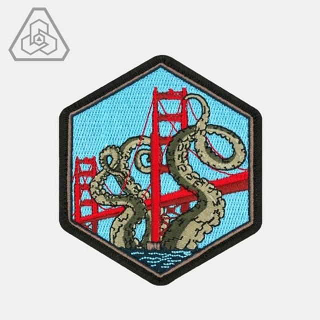 PROMETHEUS DESIGN WERX (プロメテウスデザインワークス) SPD Golden Gate Kraken Morale Patch [フック付き]