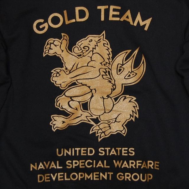 【Military Style/ミリタリースタイル】フードジップパーカー GOLD TEAM 10オンス