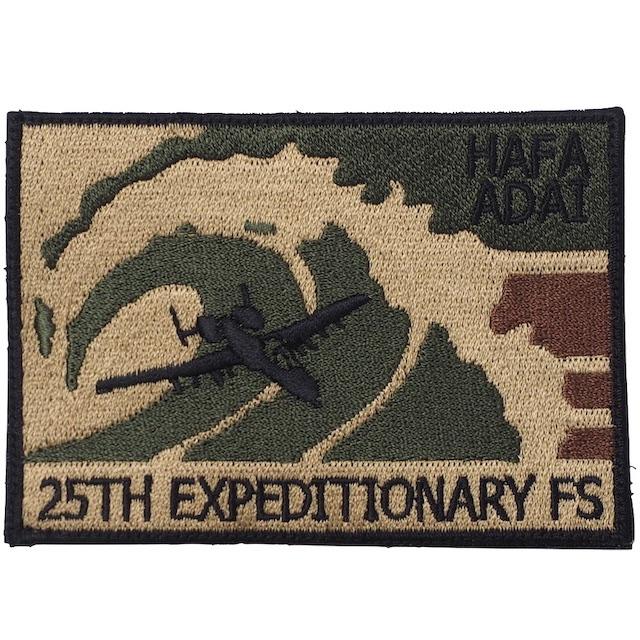 【ミリタリーパッチ】25TH EXPEDITIONARY FS [HAFA ADAI] [フック付き]