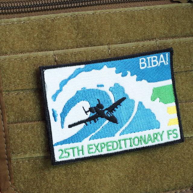【ミリタリーパッチ】25TH EXPEDITIONARY FS [BIBA!] [フック付き]