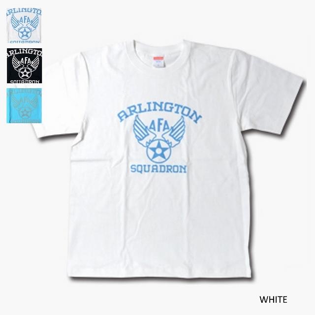 【Military Style/ミリタリースタイル】ARLINGTON SQUADRN AIR FORCE ACADEMY ショートスリーブ Tシャツ[3色]