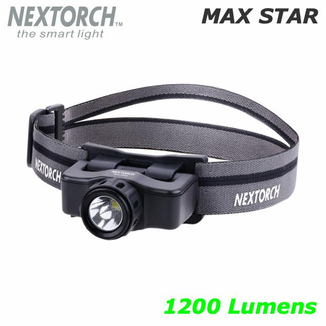 NEXTORCH(ネクストーチ)MAX STAR LEDヘッドランプ [1200ルーメン][LEDカラー白]