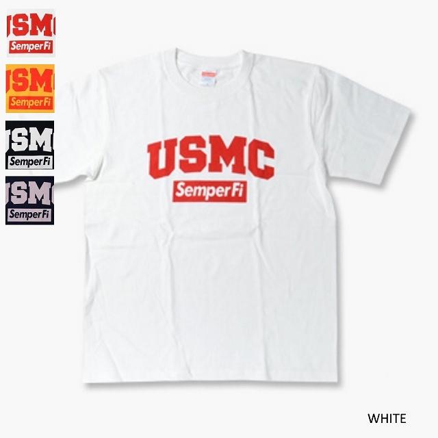 【Military Style/ミリタリースタイル】USMC SEMPER FI ショートスリーブ Tシャツ[4色]