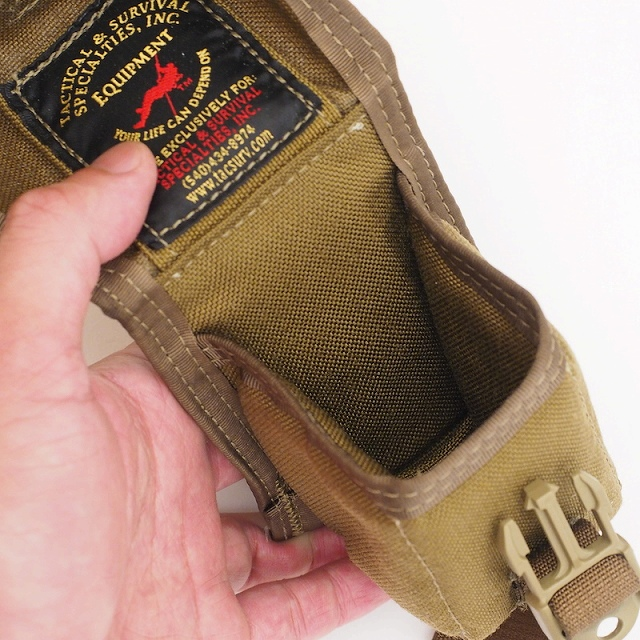 US SURPLUS(US サープラス)TSSI クッションパッド付き ユーティリティーポーチ [Coyote]