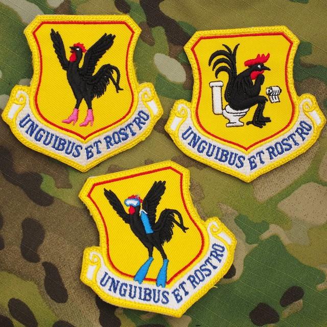 【ミリタリーパッチ】18th Wing 第18航空団 ジョークパッチ カラー [3種]