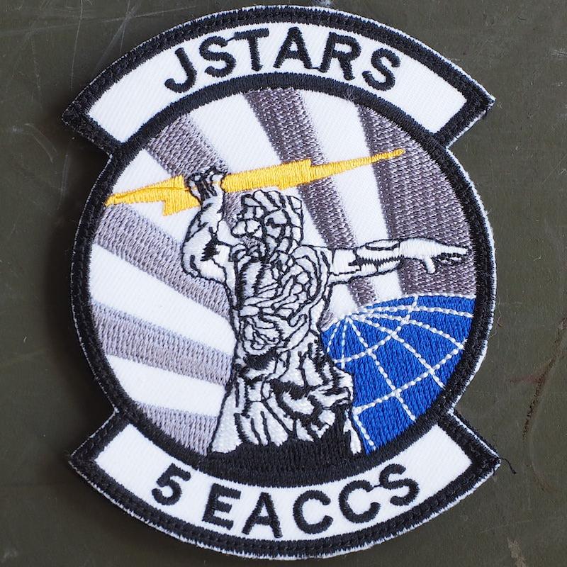 【ミリタリーパッチ】5th EACCS JSTARS パッチ5枚セット[フック付き]