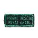 【ミリタリーパッチ】#MAKE RESCUE GREAT AGAIN ミニパッチ ジョリーグリーン [フック付き]