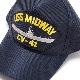 EAGLE CREST(イーグルクレスト)BASEBALL CAP [CV-41 USS MIDWAY][ネイビー]