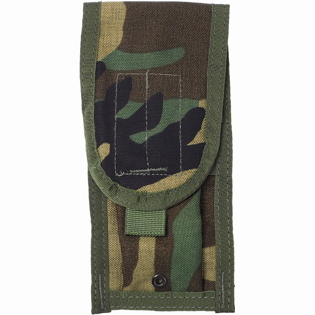 US(米軍放出品)M4 Two Mag Pouch M4シングルマガジンポーチ [Woodland][MOLLEスタイル]