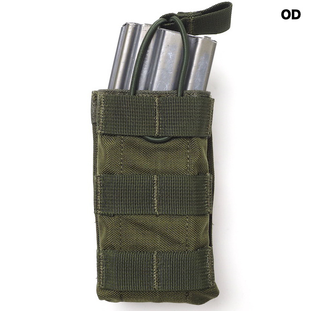 J-TECH(ジェイテック) 5.56mm オープントップマガジンポーチ シングル [Black、Foliage Green、OD]