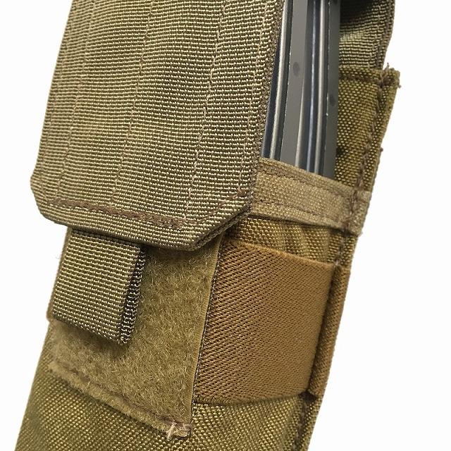 US(米軍放出品)EAGLE M4シングル 2マグポーチ [M-4 SINGLE MAG PCH][Khaki][5.56mmマガジン]