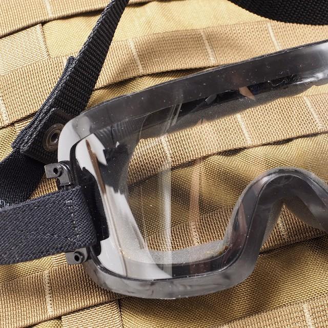 US(米軍放出品) パラシュート降下用フライトヘルメットゴーグル [クリアレンズ]