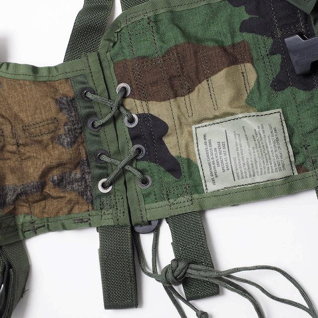US(米軍放出品)40mmグレネードキャリアベスト Woodland