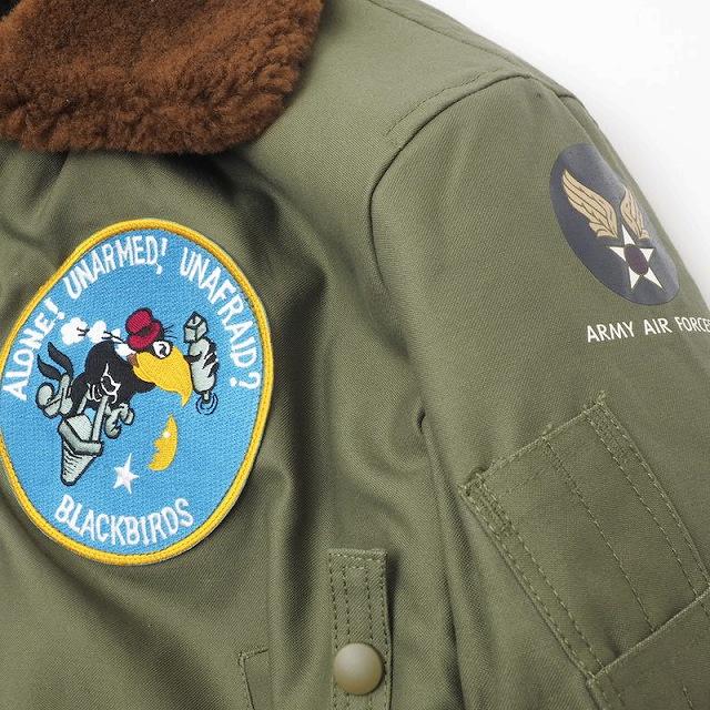 SESSLER(セスラー) TYPE B-15A フライトジャケット OD[第12偵察飛行隊 パッチ付き]