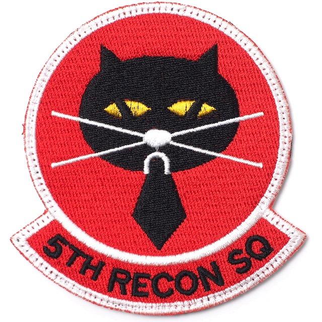 【ミリタリーパッチ】5TH RECON SQ  オール刺繍タイプ フルカラー [フック付き]