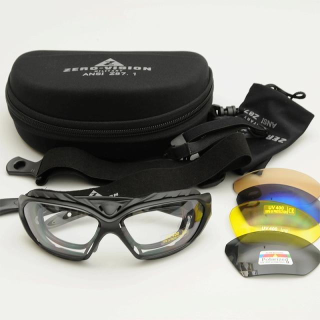ZERO Vision(ゼロビジョン)[ZV-500] 2WAYタクティカルゴーグル [5レンズセット][レンズ交換可能][アジアンフィット]