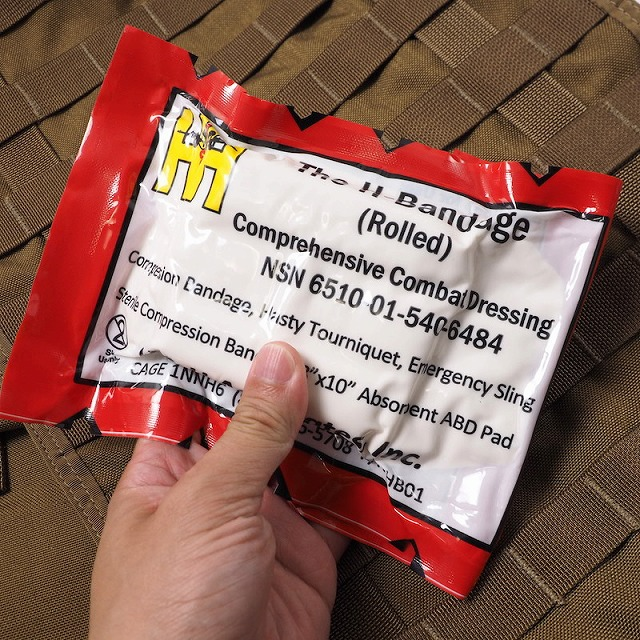 US(米軍放出品)H-Bandage Rolled [総合多機能救急包帯][Comprehensive Combat Dressing]