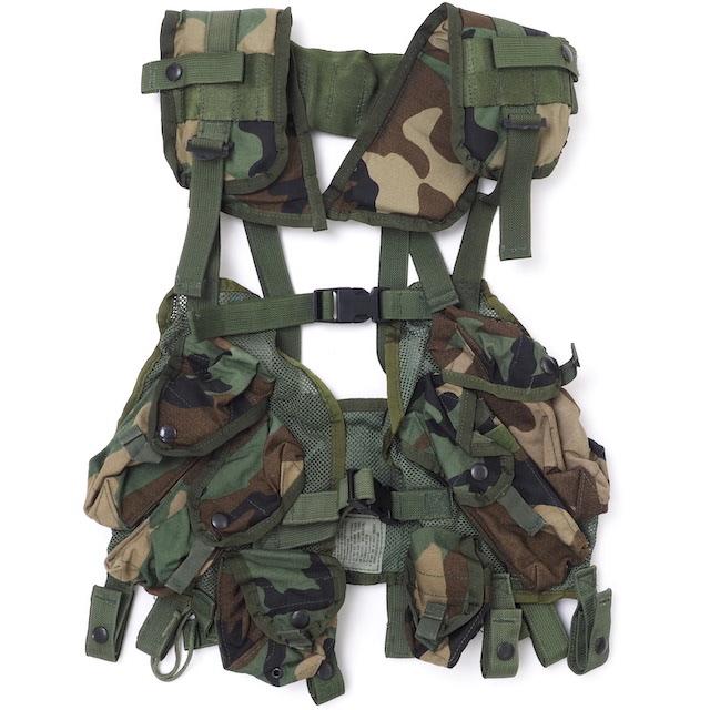 US(米軍放出品)Enhanced Load Bearing Vest Woodland [後期型ロードベアリングベスト ウッドランド][中古未使用品]