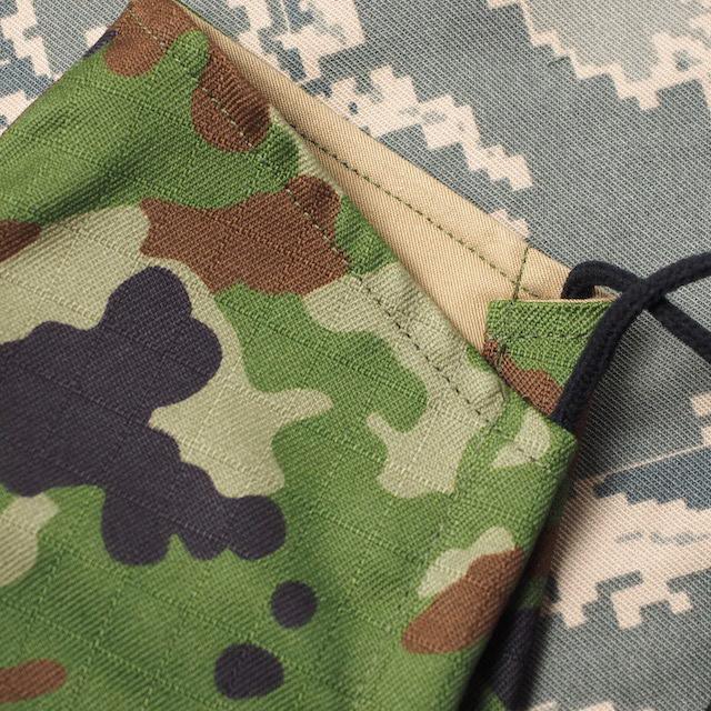 CAPTAIN TOMs ORIGINAL(キャプテントムオリジナル)COOLMAX 立体布マスク [陸上自衛隊迷彩仕様] 洗える フェイスガード 日本製 冷感 [自衛隊迷彩/Sand Khaki]