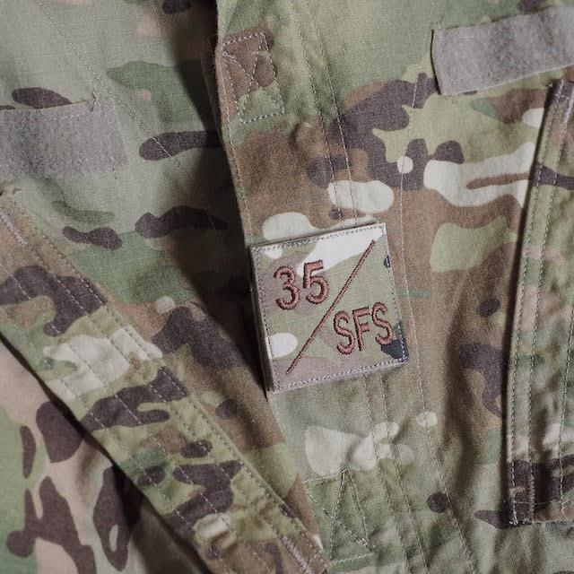 【ミリタリーパッチ】35 / SFS スクエアパッチ 四角形 スパイスブラウン OCP [フック付き]