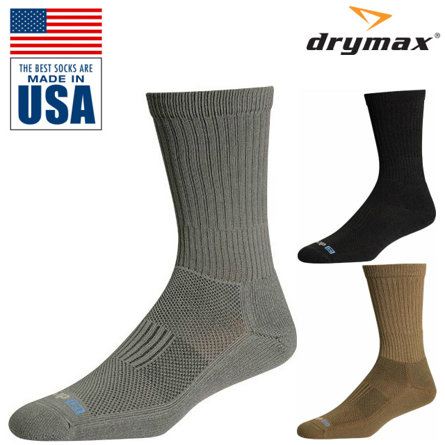 DRYMAX(ドライマックス)Active Duty Crew ソックス [ミリタリーライン][Black、Coyote Brown、Foliage Green]