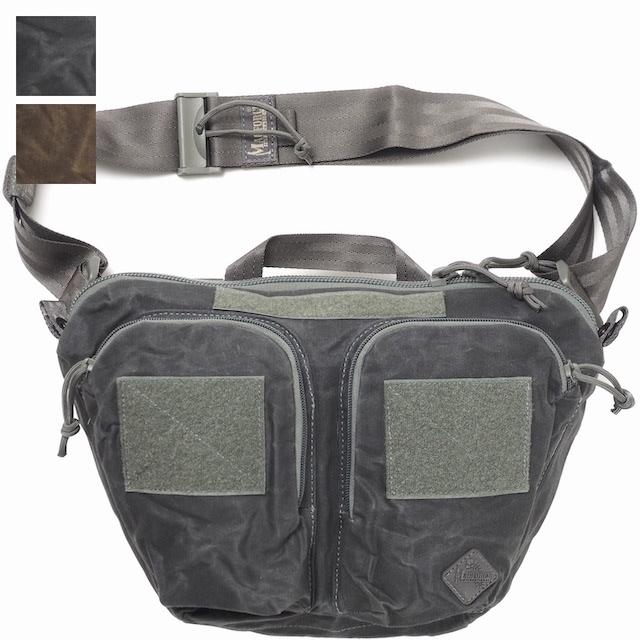 【クリアランスSALE】MAGFORCE(マグフォース)Aries Cross Body Bag [Waxed Cotton][MF-0497][2色][エアリーズクロスバッグ ワックスコットン]