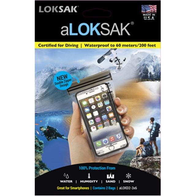 LOKSAK(ロックサック)aLOKSAK Drybags [スマートフォン スモール][2枚入][ダブルジッパー]