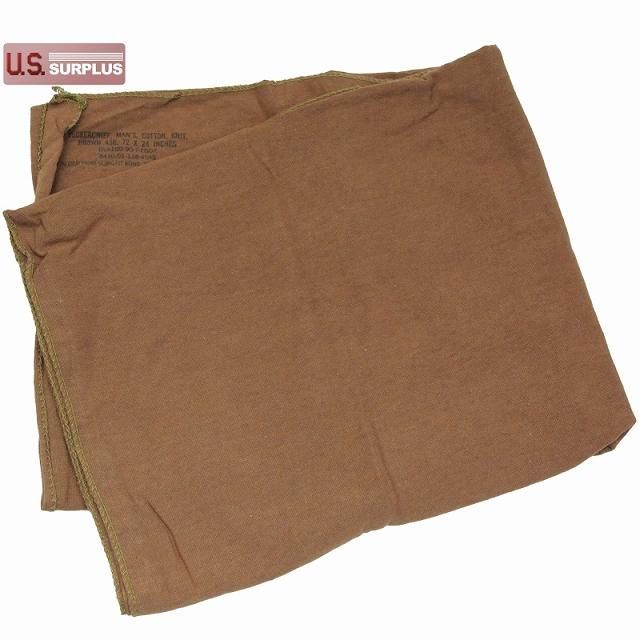 US(米軍放出品)コットンニットネックチーフ ブラウン [Cotton Knit Neckerchief Brown][ネックウォーマー]