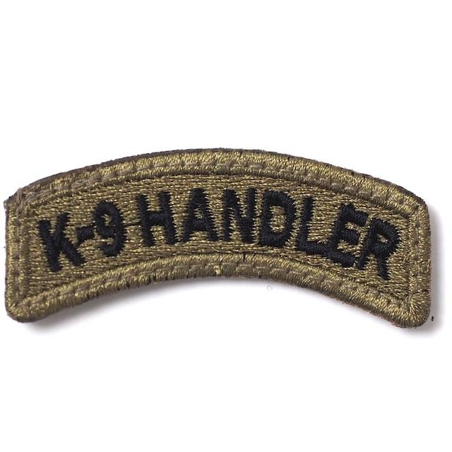 【ミリタリーパッチ】K-9 HANDLER タブパッチ OCP [ベルクロ付き]