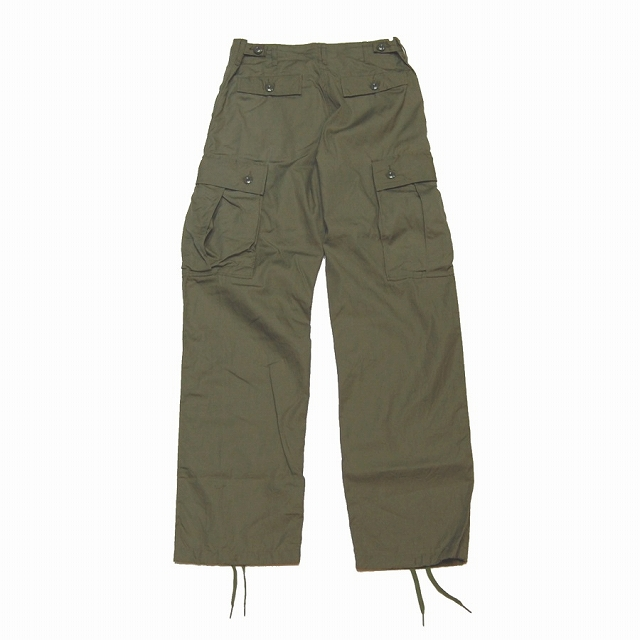 BUZZ RICKSON'S (バズリクソン)TROUSERS,MEN'S,COTTON WIND RESISTANT POPLIN,OLIVE GREEN ARMY SHADE 107[BR40927]【送料無料】