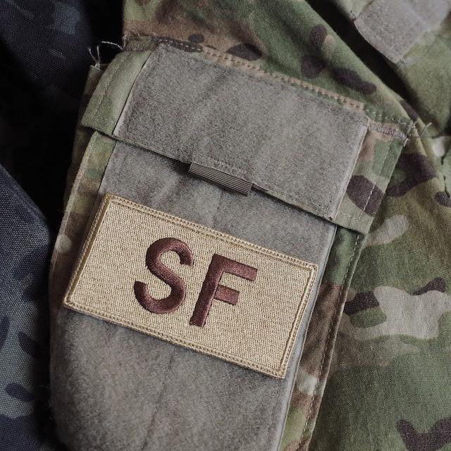 【ミリタリーパッチ】SF パッチ スパイスブラウン OCP [フック付き]