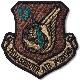 【ミリタリーパッチ】PARARESCUE AIR FORCE コマンドパッチ フットプリント スパイスブラウン OCP [フック付き]
