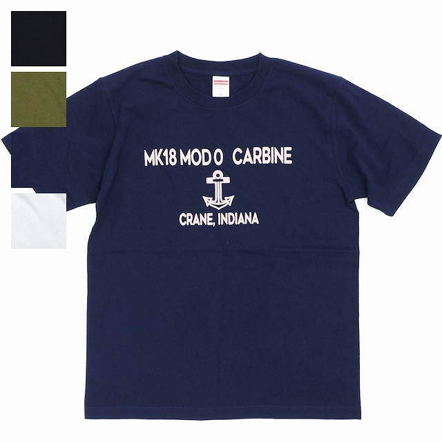 MILITARY(ミリタリー)Tシャツ MK18 MOD0 CARBINE  ショートスリーブ Tシャツ[4色][抜き染め][染み込み]