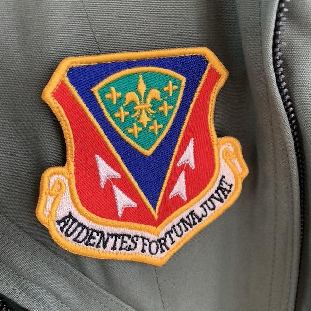 【ミリタリーパッチ】366th Fighter Wing 第366戦闘航空団 パッチ AUDENTES FORTUNS JUVAT [フック付き]