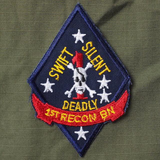 【ミリタリーパッチ】1ST RECON BN [USMC]