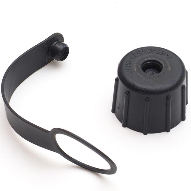 US(米軍放出品)1QT キャンティーン スペアキャップ ブラック ガスマスク対応