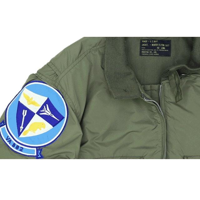 HOUSTON(ヒューストン)U.S.NAVY TYPE G-8 WEP JACKET 初期型 VA-882パッチ付き  [VINTAGE GREEN]【送料無料】