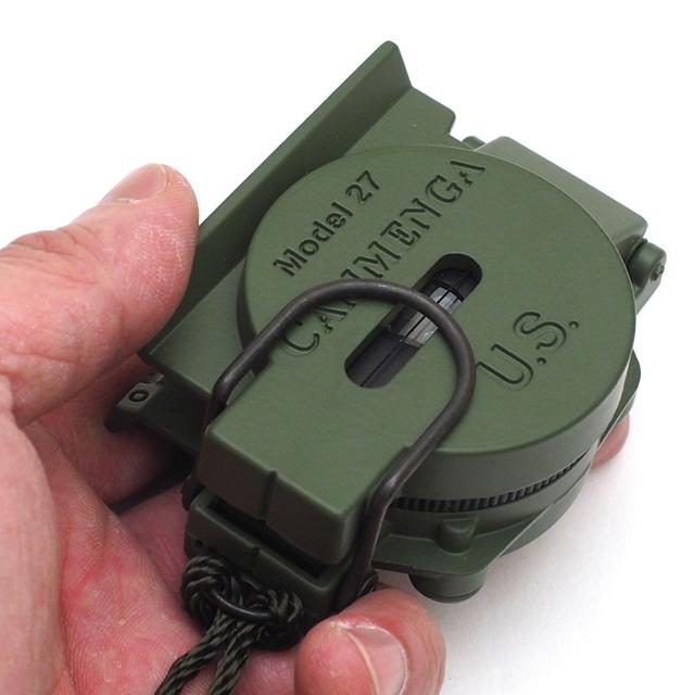 MILITARY(ミリタリー)米軍 CAMMENGA レンザティックコンパス OD [蓄光][ALICEクリップ付きODカラーコンパスポーチ付き]【送料無料】