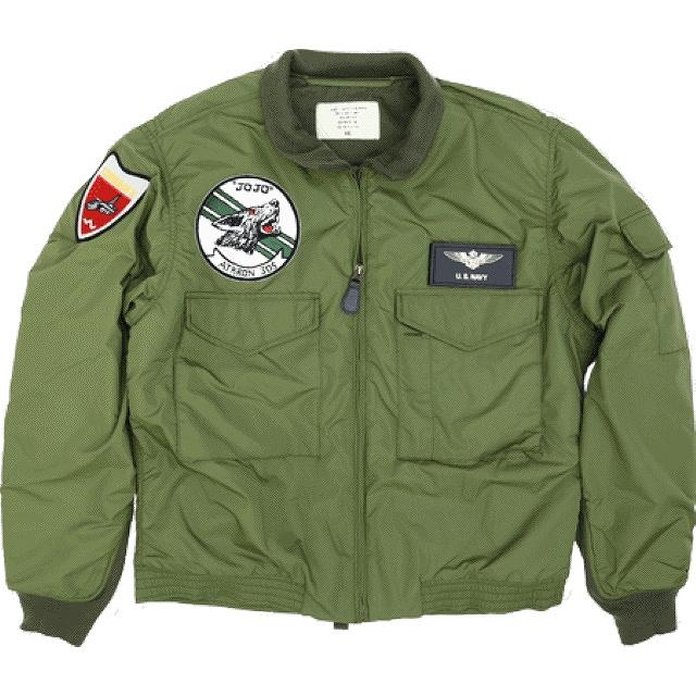 HOUSTON(ヒューストン)U.S.NAVY TYPE G-8 WEP JACKET 後期型 VA-305パッチ付き  [OD]【送料無料】