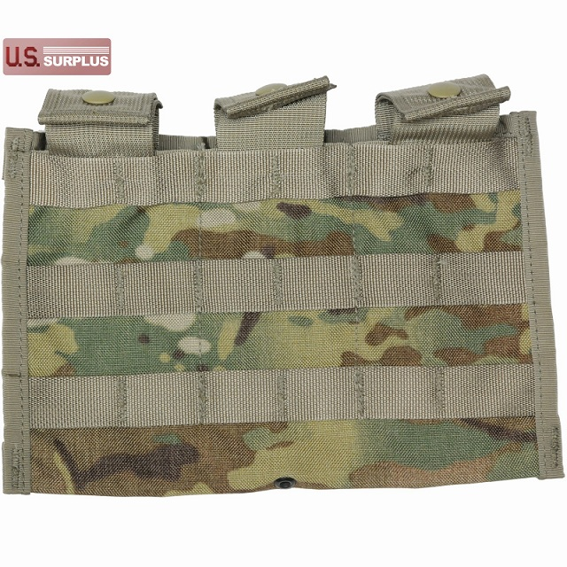 US(米軍放出品)MOLLE II Triple Magazine Pocket 30 Round MultiCam