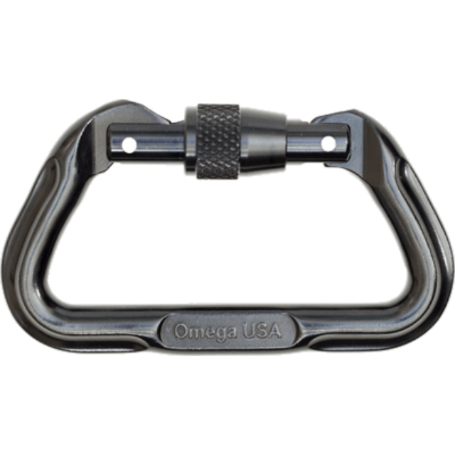 US SURPLUS(USサープラス) オメガ スクリューロック カラビナ [Black][OPL5][Omega Pacific Locking D Carabiner]