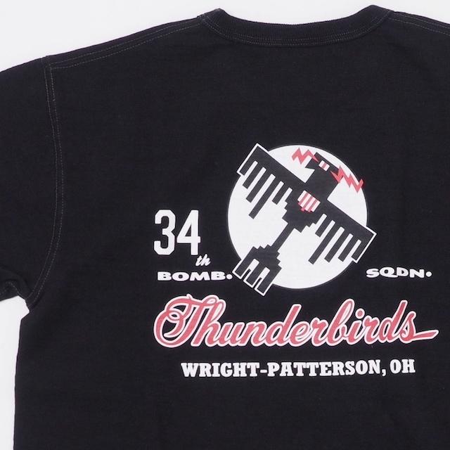BUZZ RICKSON'S(バズリクソン)S/S T-SHIRT 34TH BOMB.SQ.THUNDERBIRDS SLUB YARN [BR78737]