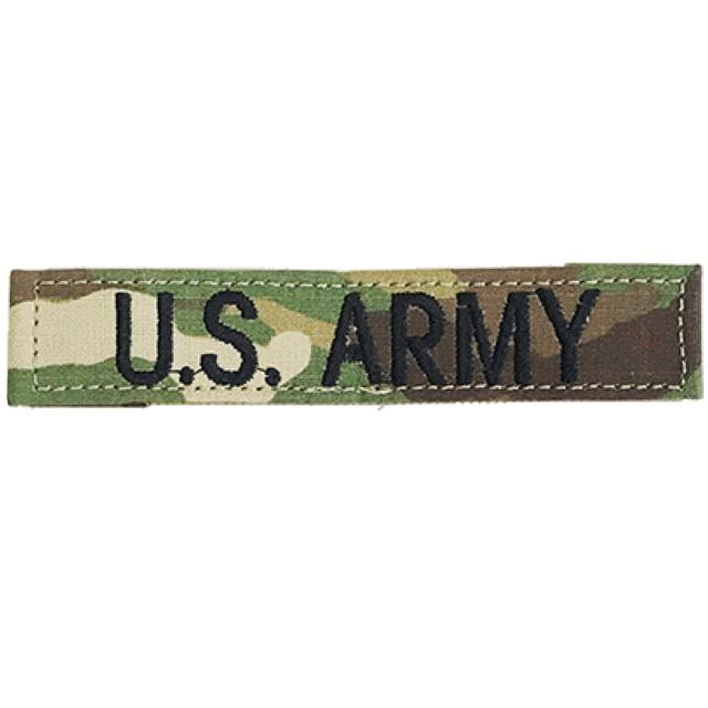 【ミリタリーパッチ】US ARMY テープ フック付き [マルチカモ/スコーピオンカモ]