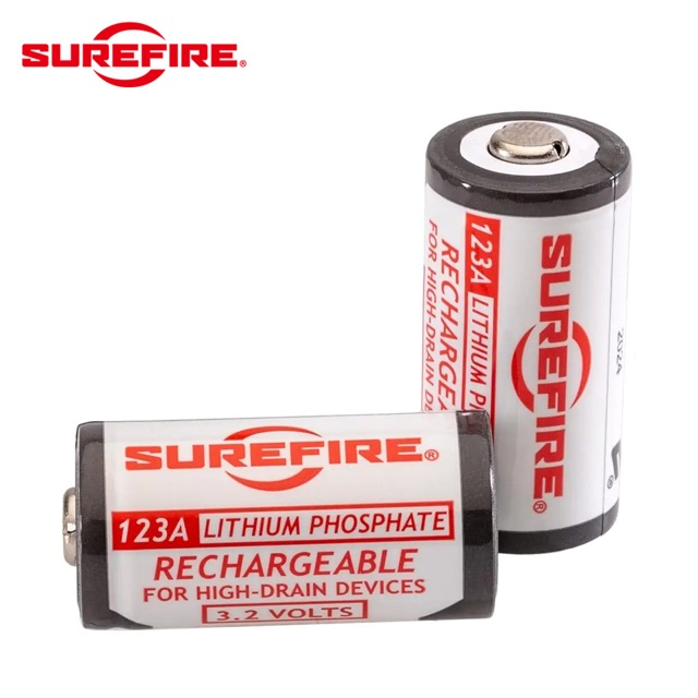 SUREFIRE(シュアファイア)SFLFP123-KIT RECHARGEABLE BATTERIES [バッテリー2個パック+充電器]