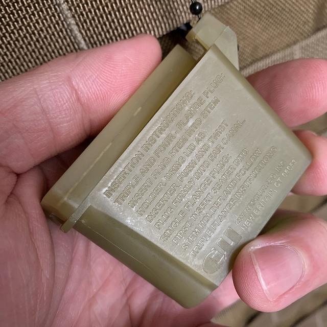 US(米軍放出品) イヤープラグ キャリングケース 耳栓ケース Ear Plug carrying case