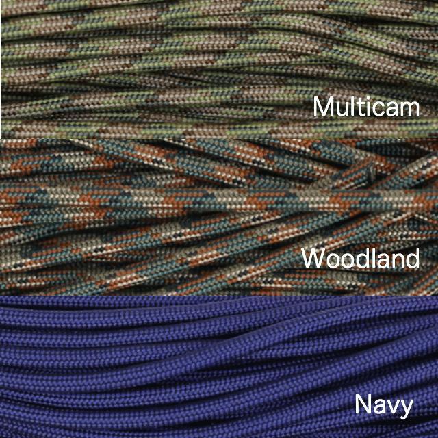 Military(ミリタリー)ミリタリーカラー 7ストランド 550 TYPE-3 パラコード [50ft 15m][12色]