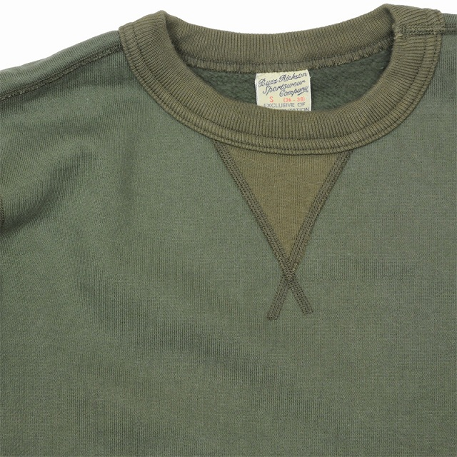 BUZZ RICKSON'S(バズリクソン)セットイン スリーブ スウェット シャツ オリーブ Set-In Sleeve Sweat Shirts Olive[BR65622]