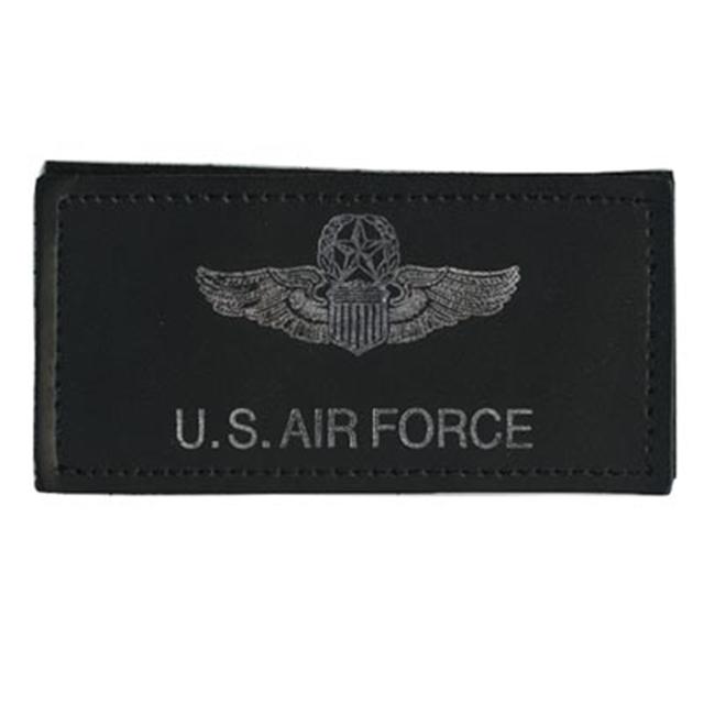 【ミリタリーパッチ】NS USAF Name Tag Master レザー ネームタグ フック付き【中田商店】