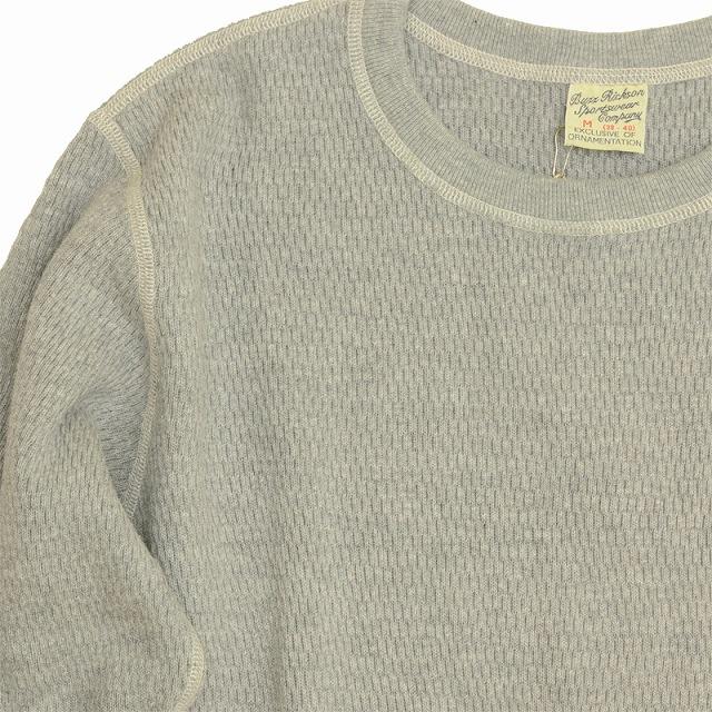 BUZZ RICKSON'S (バズリクソン)Thermal Shirt Long Sleeve H.Gray サーマル ロングスリーブ シャツ ヘザーグレー